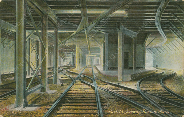 Four-track Portion of the Tremont Street Subway Circa 1900