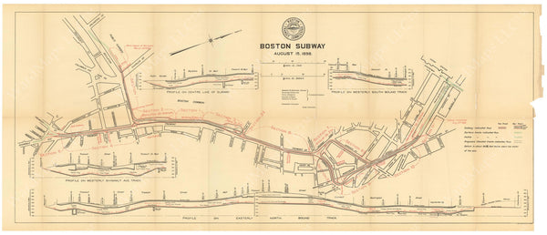 BTC Annual Report 04, 1898: Boston Subway, August 15, 1898