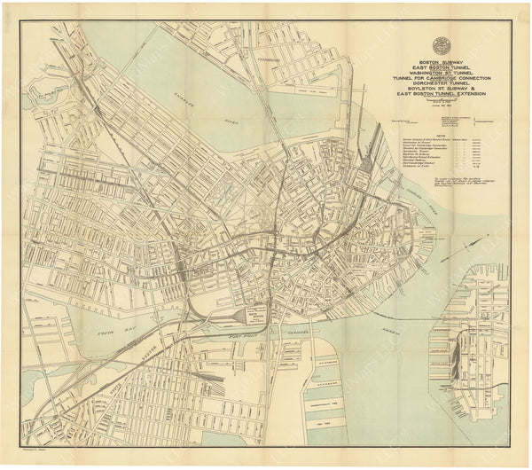 BTC Annual Report 20, 1914: Downtown Transit Map