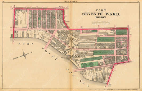 Mapping Passenger Terminals at Kneeland Street, Boston, Massachusetts 1874