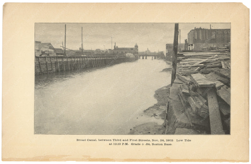 Charles River Dam Report 1903: Broad Canal Between 3rd and 1st Streets 1902