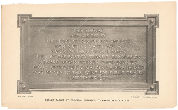 BTC Annual Report 04, 1898: Subway Bronze Tablet