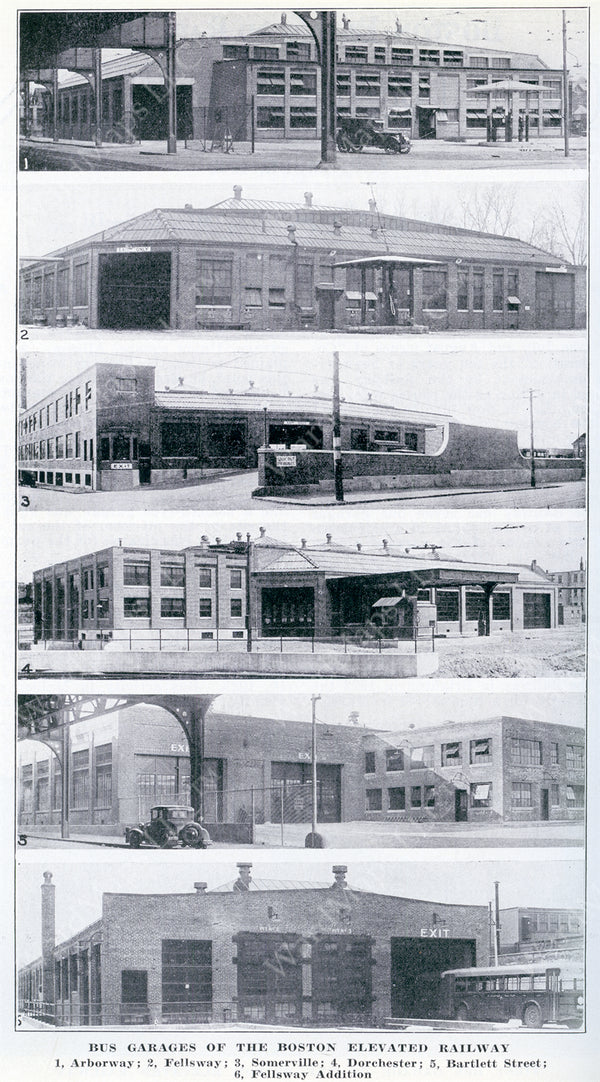Boston Elevated Railway Co. Bus Garages September 1932