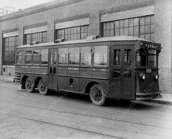 Boston Elevated Railway Co. Gas-electric Bus #910, February 1929