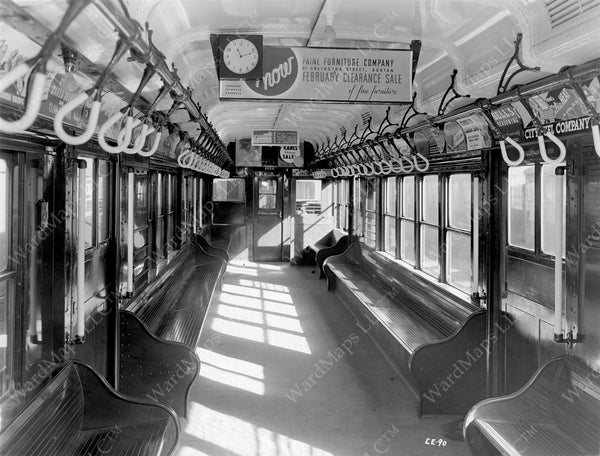 Cambridge-Dorchester Type 3 Rapid Transit Car Interior 1937