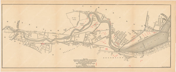 Charles River Dam Report 1903: Mosquito Breeding Places 1902