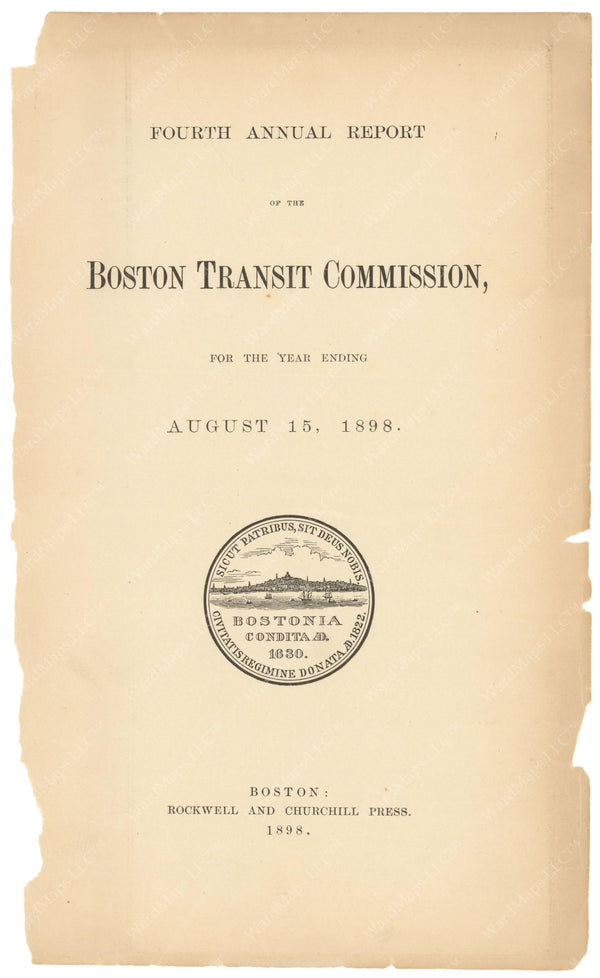 BTC Annual Report 04, 1898: Title Page