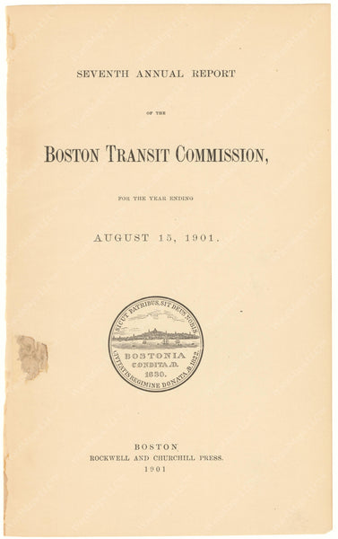 BTC Annual Report 07, 1901: Title Page