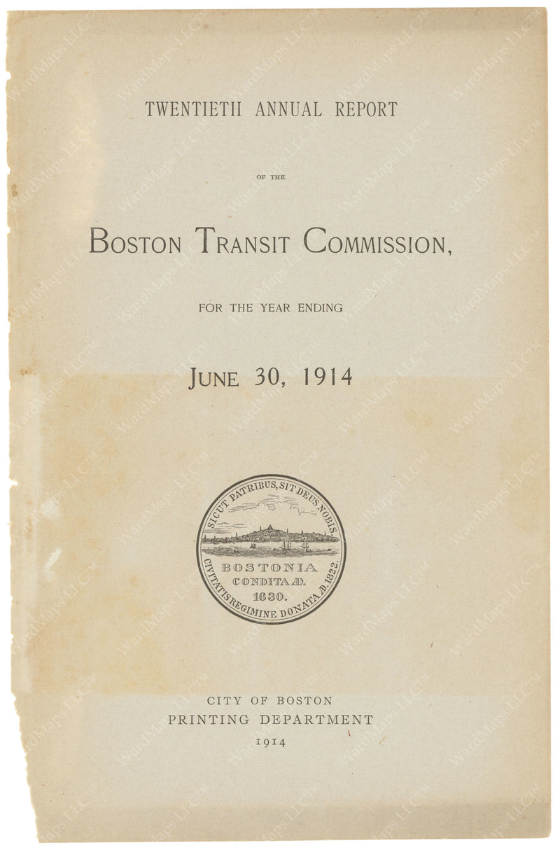 BTC Annual Report 20, 1914: Title Page