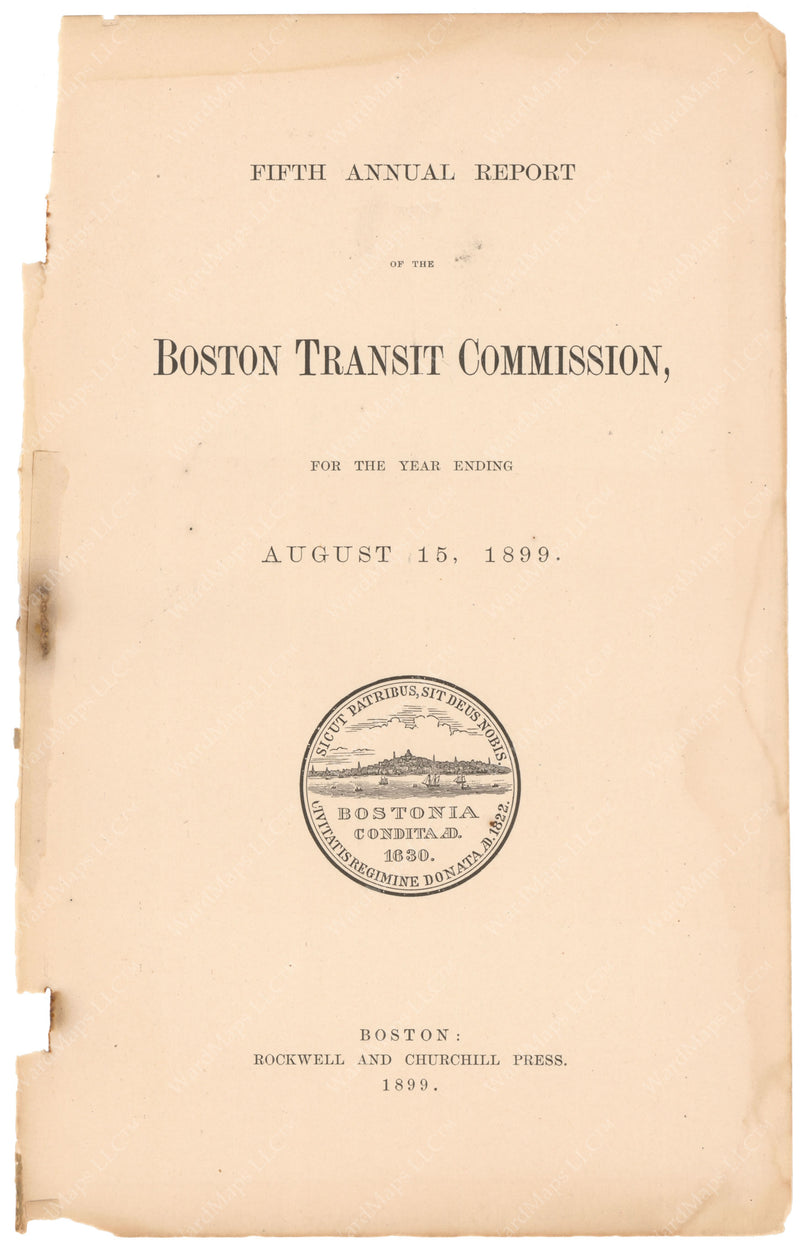 BTC Annual Report 05, 1899: Title Page