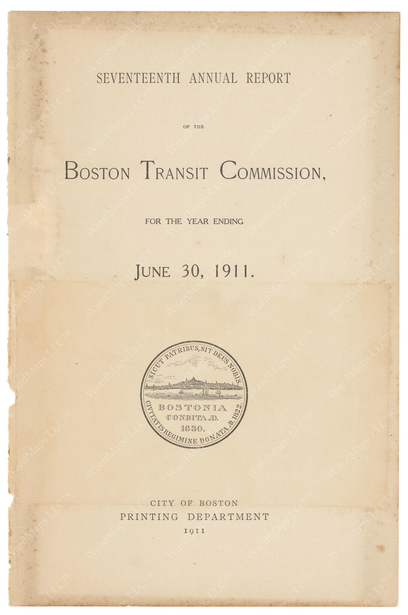 BTC Annual Report 17, 1911: Title Page