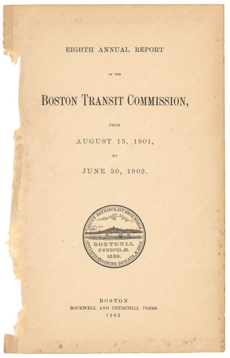 BTC Annual Report 08, 1902: Title Page