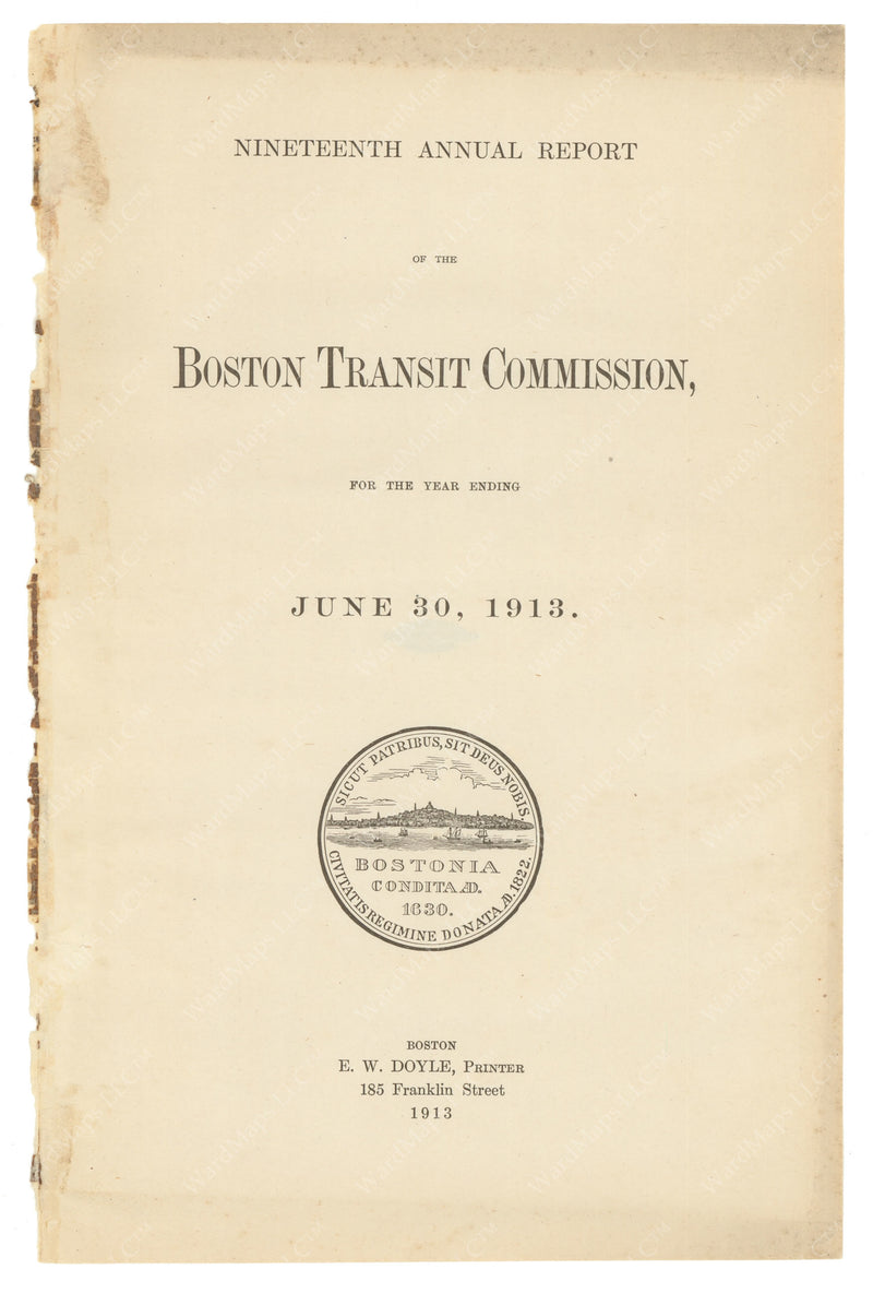 BTC Annual Report 19, 1913: Title Page