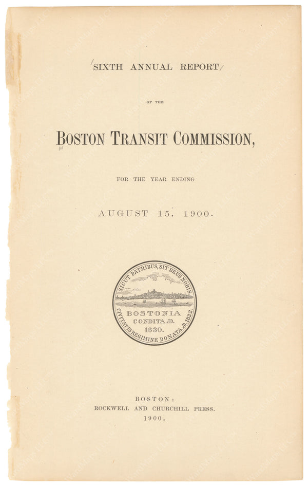 BTC Annual Report 06, 1900: Title Page