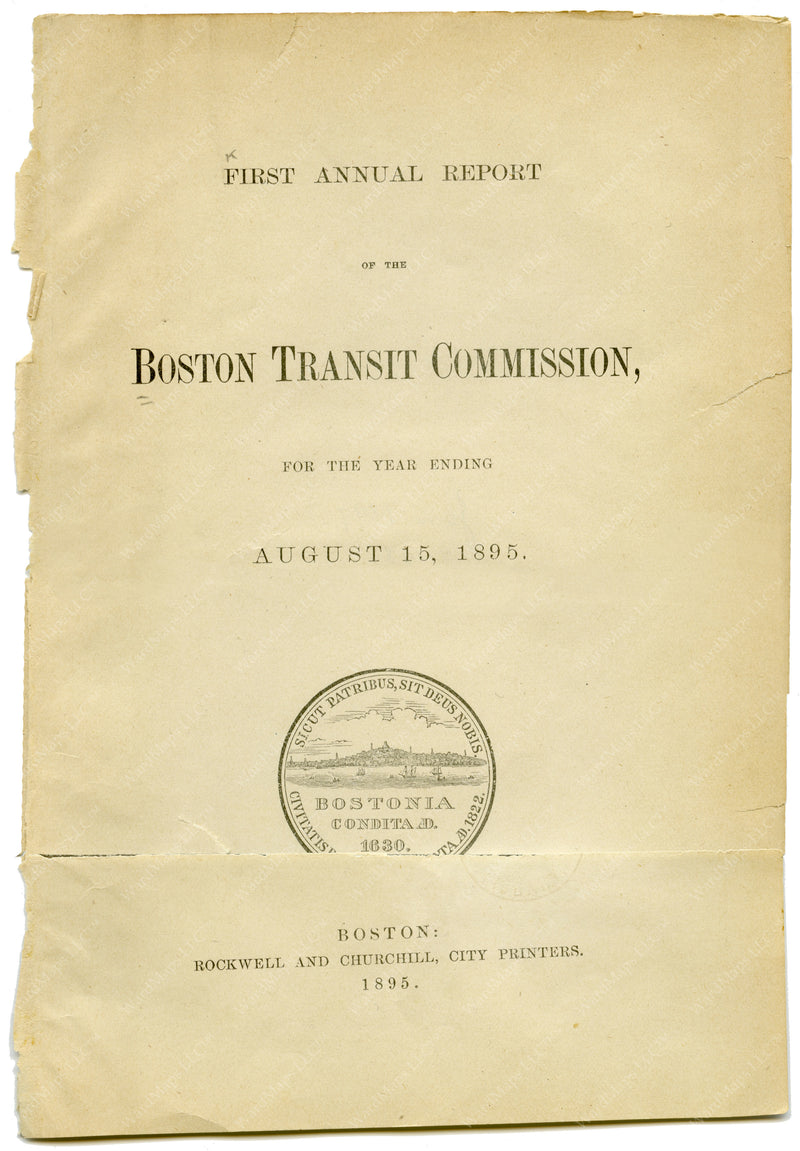 BTC Annual Report 01, 1895: Title Page