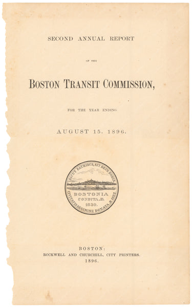 BTC Annual Report 02, 1896: Title Page