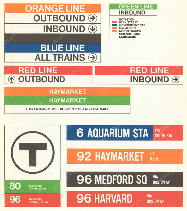 Prototypical MBTA Station and Bus Signage 1966