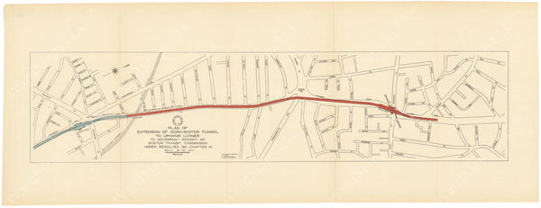 BTC Annual Report 23, 1917: Plan of Dorchester Tunnel to Uphams Corner