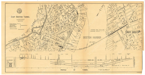 BTC Annual Report 07, 1901 Plate 01: East Boston Tunnel