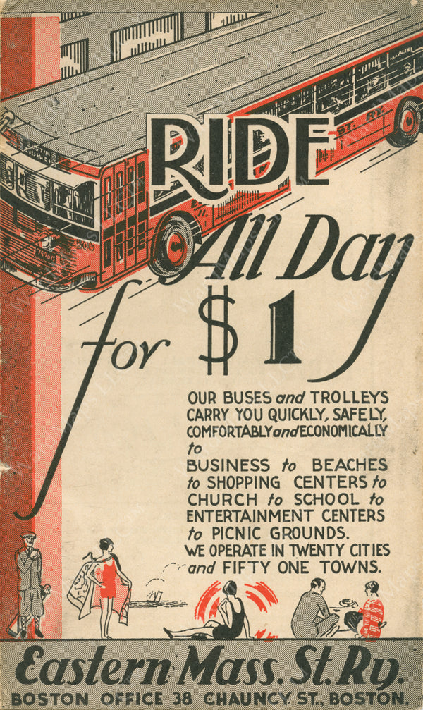 """Ride All Day for $1"" Brochure Cover 1933"
