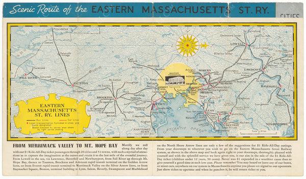 Scenic Profile of the Eastern Mass. Street Railway Co. 1930