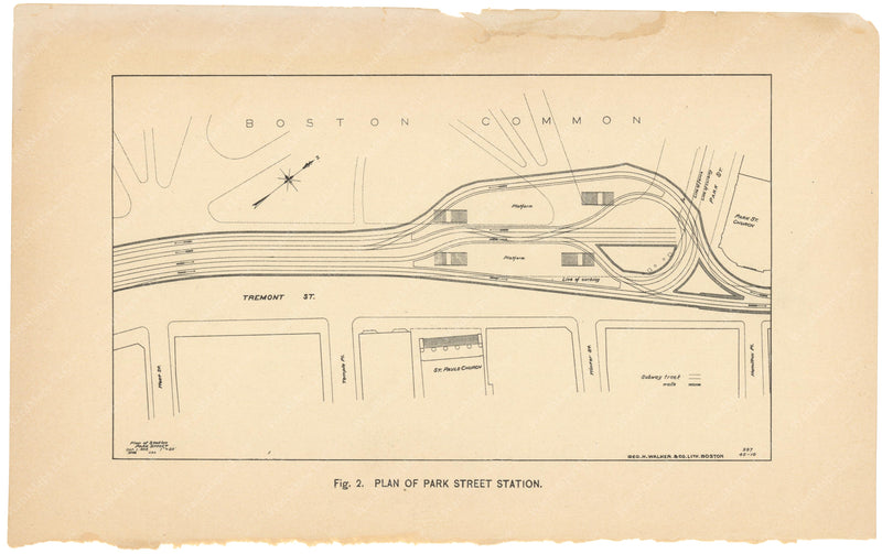BTC Annual Report 01, 1895 Figure 02: Plan of Park Street Station