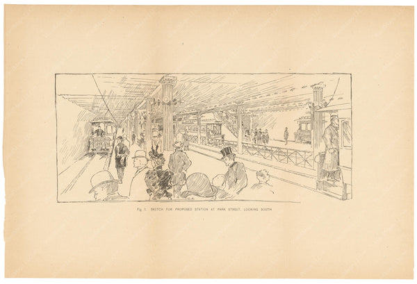 BTC Annual Report 01, 1895 Figure 03: Sketch of Proposed Station at Park Street