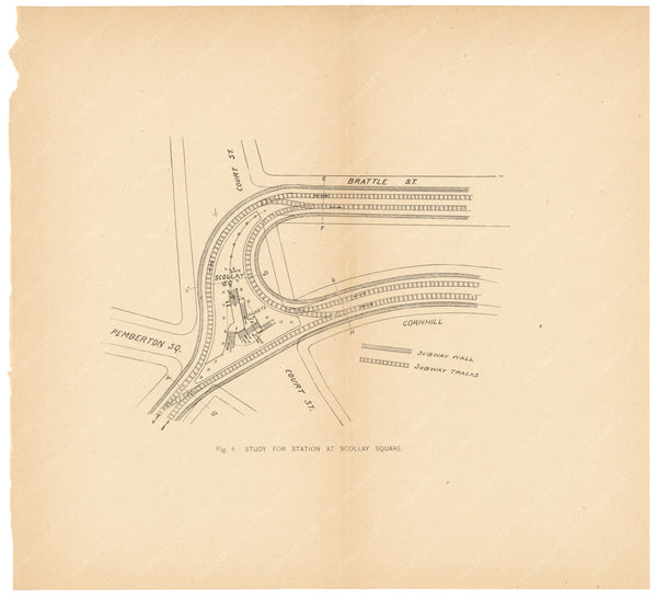 BTC Annual Report 01, 1895 Figure 04: Study for Scollay Square Station