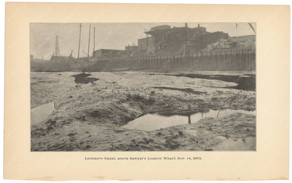 Charles River Dam Report 1903: Lechmere Canal Above Sawyer's Wharf 1902