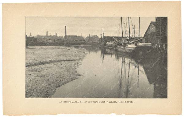 Charles River Dam Report 1903: Lechmere Canal Below Sawyer's Wharf 1902