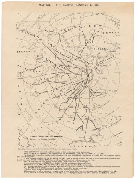 BERy Newspaper Brochure Map 01: The System, January 1, 1898