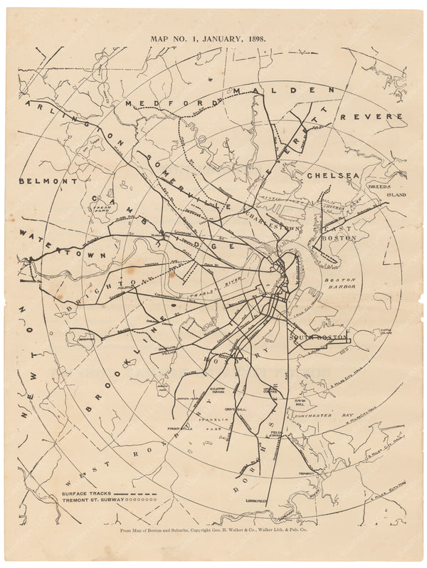 BERy Newspaper Brochure Map 01 V2: The System, January 1, 1898