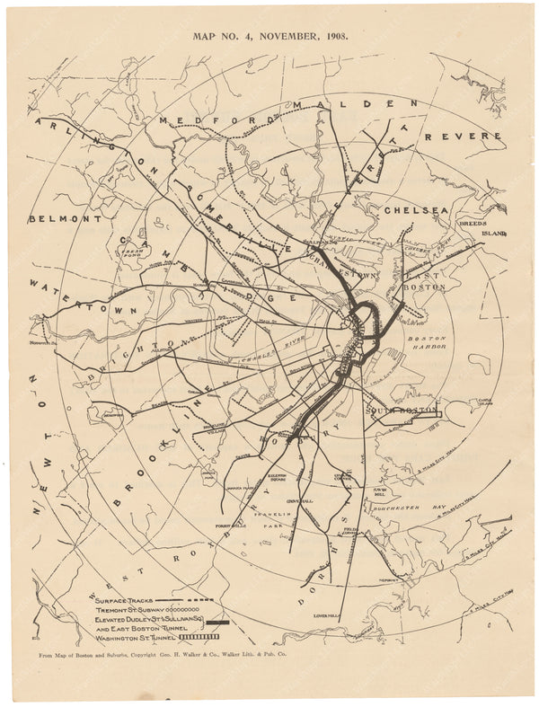 BERy Newspaper Brochure Map 04: The System, November 1908