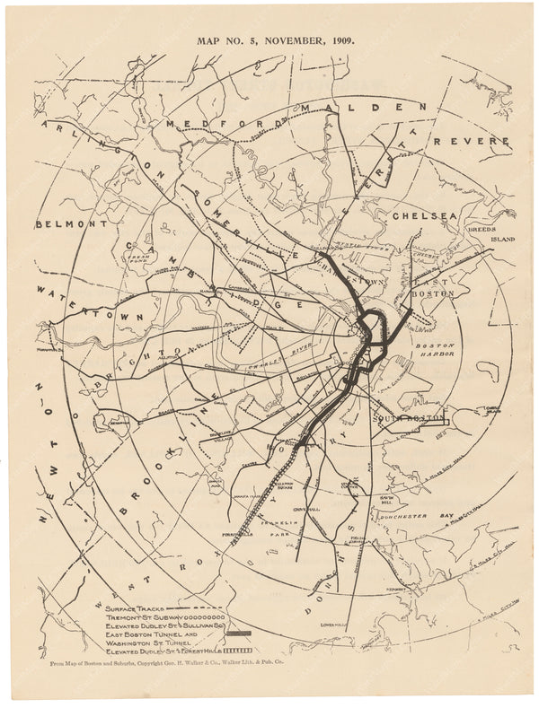 BERy Newspaper Brochure Map 05: The System, November 1909