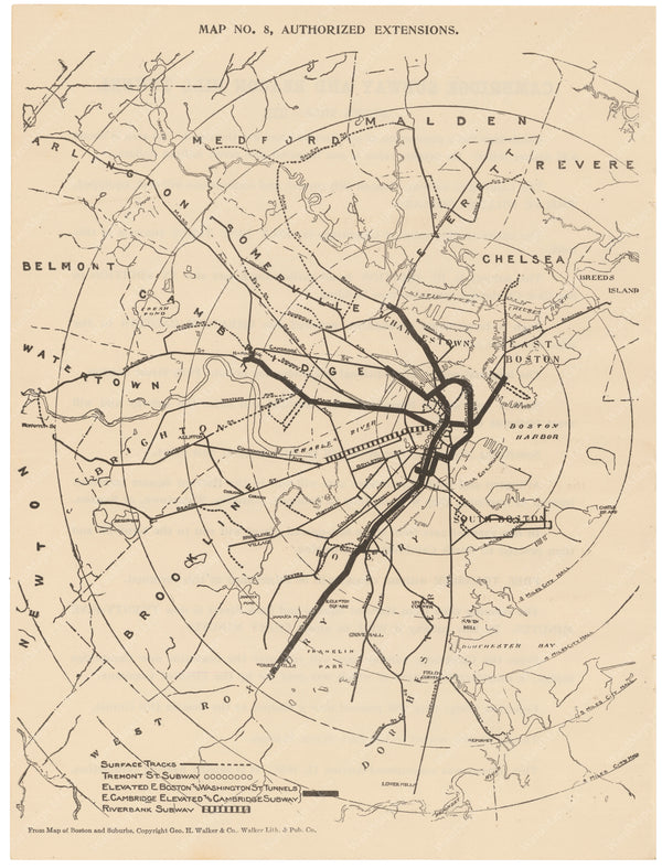 BERy Newspaper Brochure Map 08: Authorized Line Extensions 1910