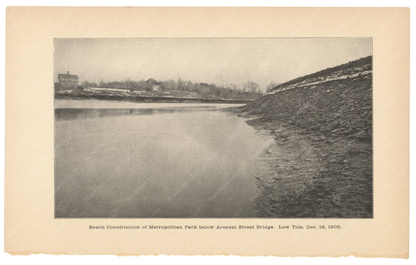 Charles River Dam Report 1903: Beach Construction 1902
