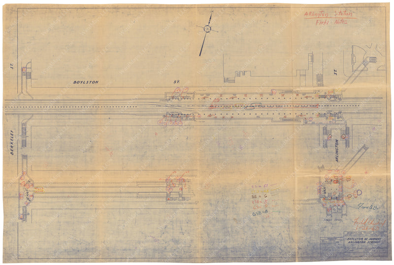 Arlington Station Plan 1949/60