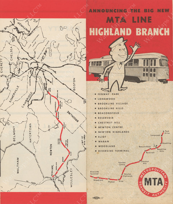 MTA Highland Branch Pamphlet 1959