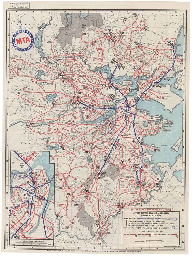 MTA System Route Map 1956