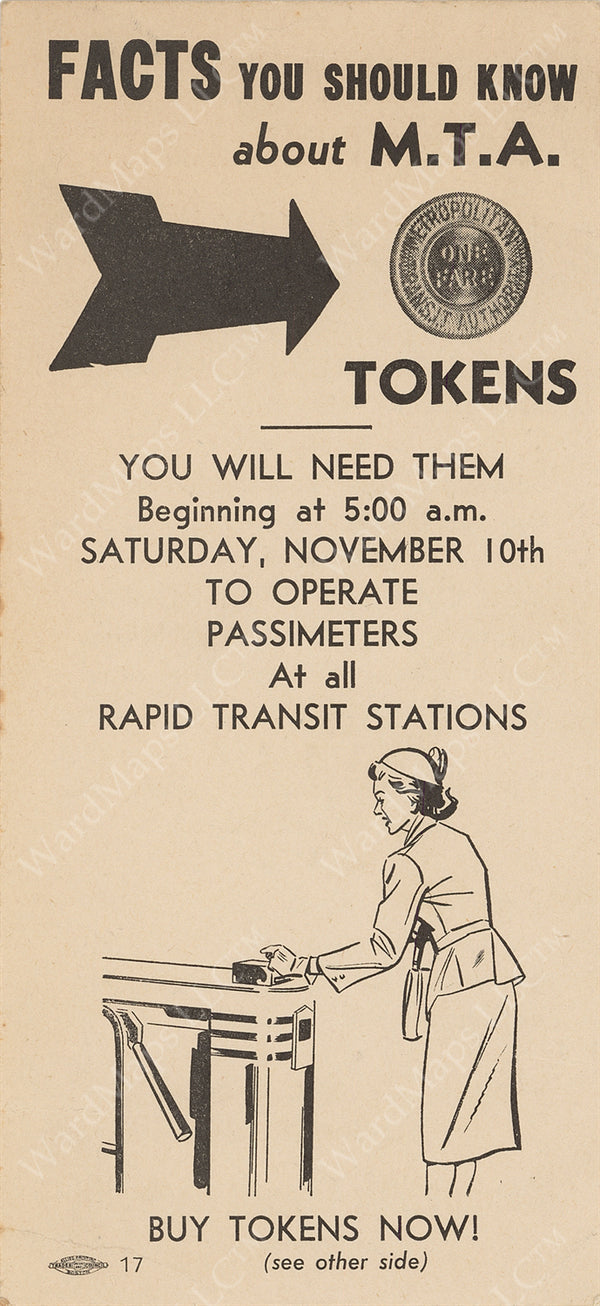 MTA Token Information Card 1951