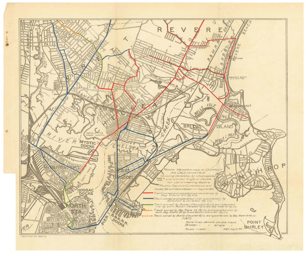 BTC Annual Report 20, 1914: Street Railway Ownership North of Boston