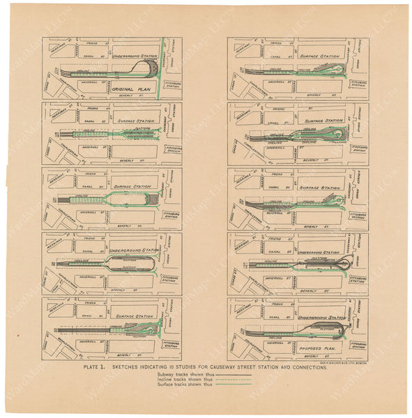 BTC Annual Report 02, 1896 Plate 01: Studies for Causeway Street Station