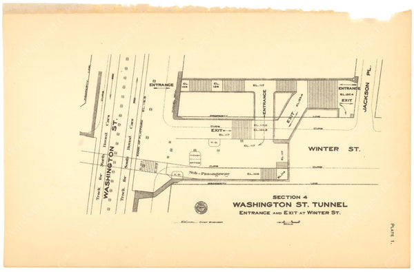 BTC Annual Report 12, 1906 Plate 01: Winter Station Entrance