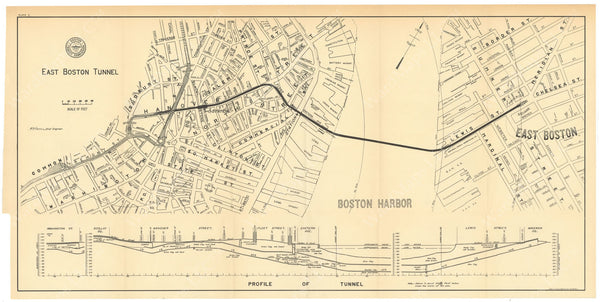BTC Annual Report 06, 1900 Plate 01: East Boston Tunnel