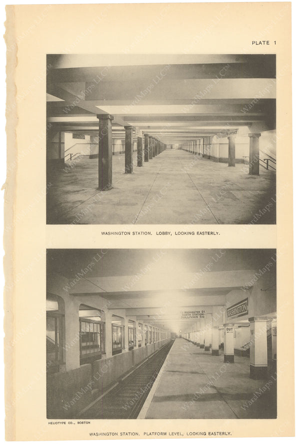 BTC Annual Report 21, 1915 Plate 01: Washington Station and Concourse