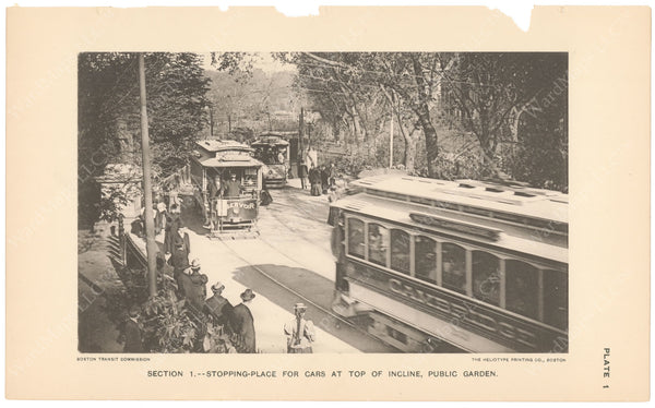 BTC Annual Report 04, 1898 Plate 01: Top of Public Garden Incline