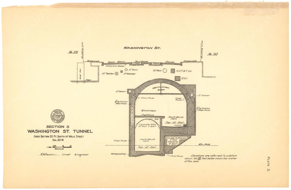 BTC Annual Report 12, 1906 Plate 02: Milk Station Cross Section