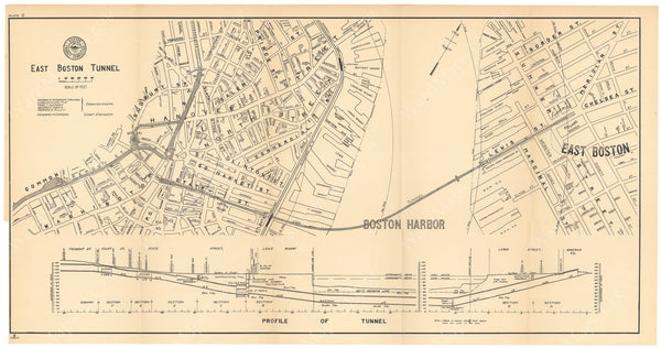 BTC Annual Report 09, 1903 Plate 02: East Boston Tunnel
