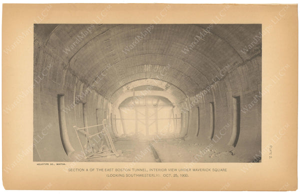 BTC Annual Report 07, 1901 Plate 02: East Boston Tunnel Under Maverick Sqaure