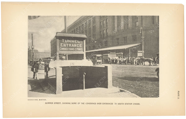 BTC Annual Report 23, 1917 Plate 02: South Station Under, Summer Street Entrance